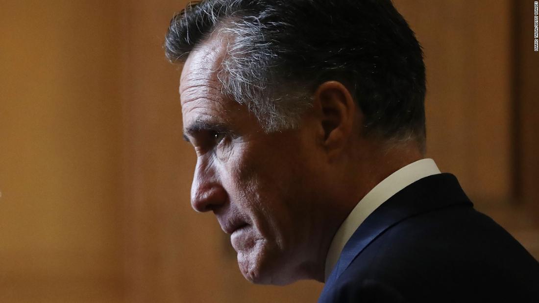 Sen. Mitt Romney participates in Floyd protest march