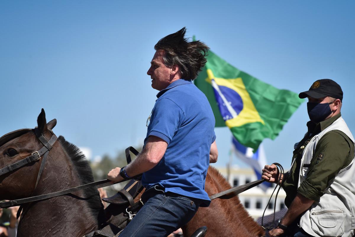 Photo of Bolsonaro rally to Brazilian Supreme Court
