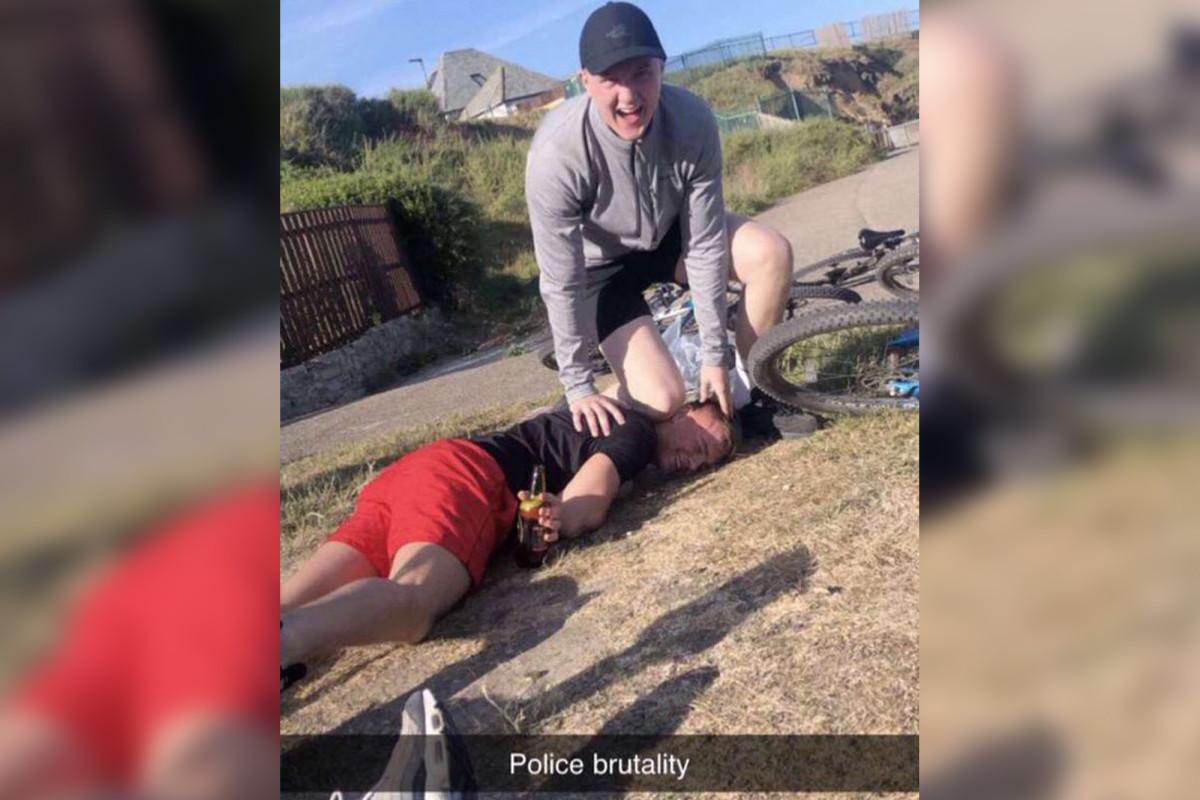 George Floyd's death mocked laughing British teens in sick photo