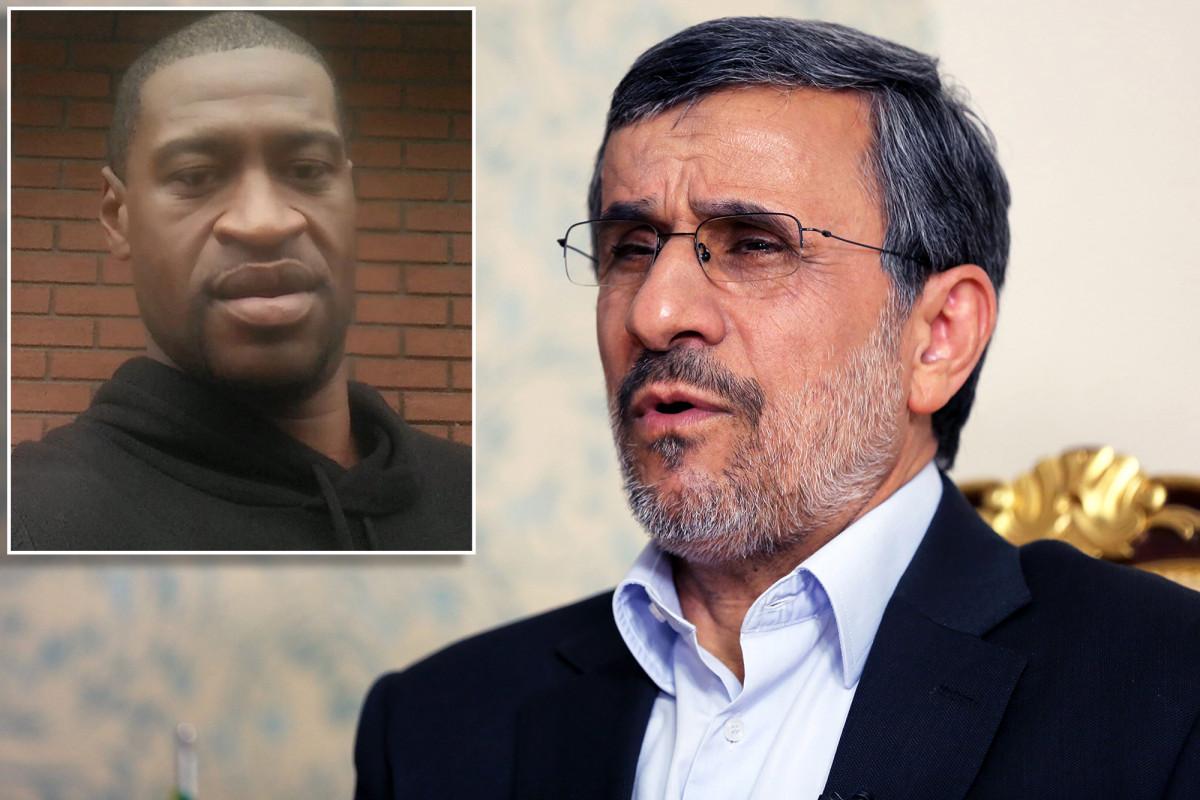 Photo of Mahmoud Ahmadinejad uses the word N in tweet about George Floyd