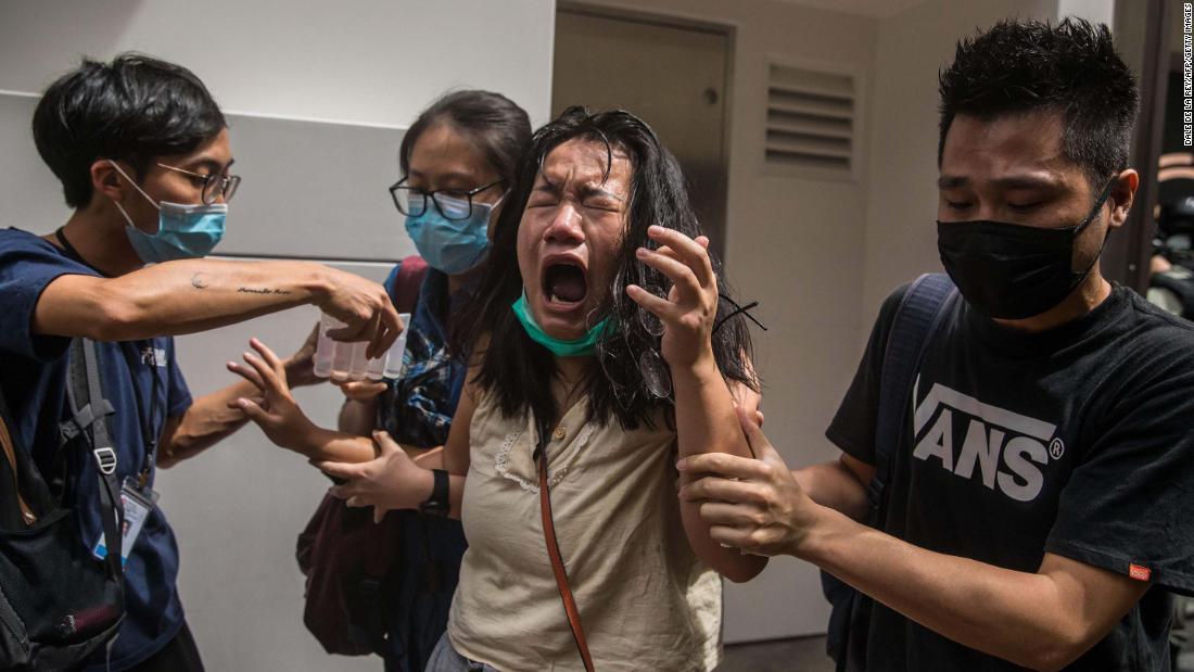 July 1 protests in Hong Kong