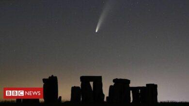 Photo of Comet captured streaking throughout Stonehenge evening sky