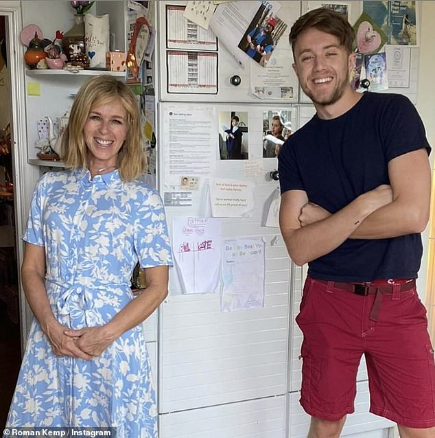Grateful:Kate Garraway, 53, thanked Myleene Klass, 42, and Roman Kemp, 27, (pictured) for helping with son Billy's 11th birthday bash, on Saturday