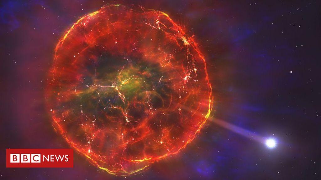 Nuclear blast sends star hurtling across galaxy