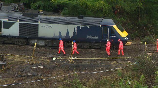 Stonehaven derailment: Train had reached 72.8mph