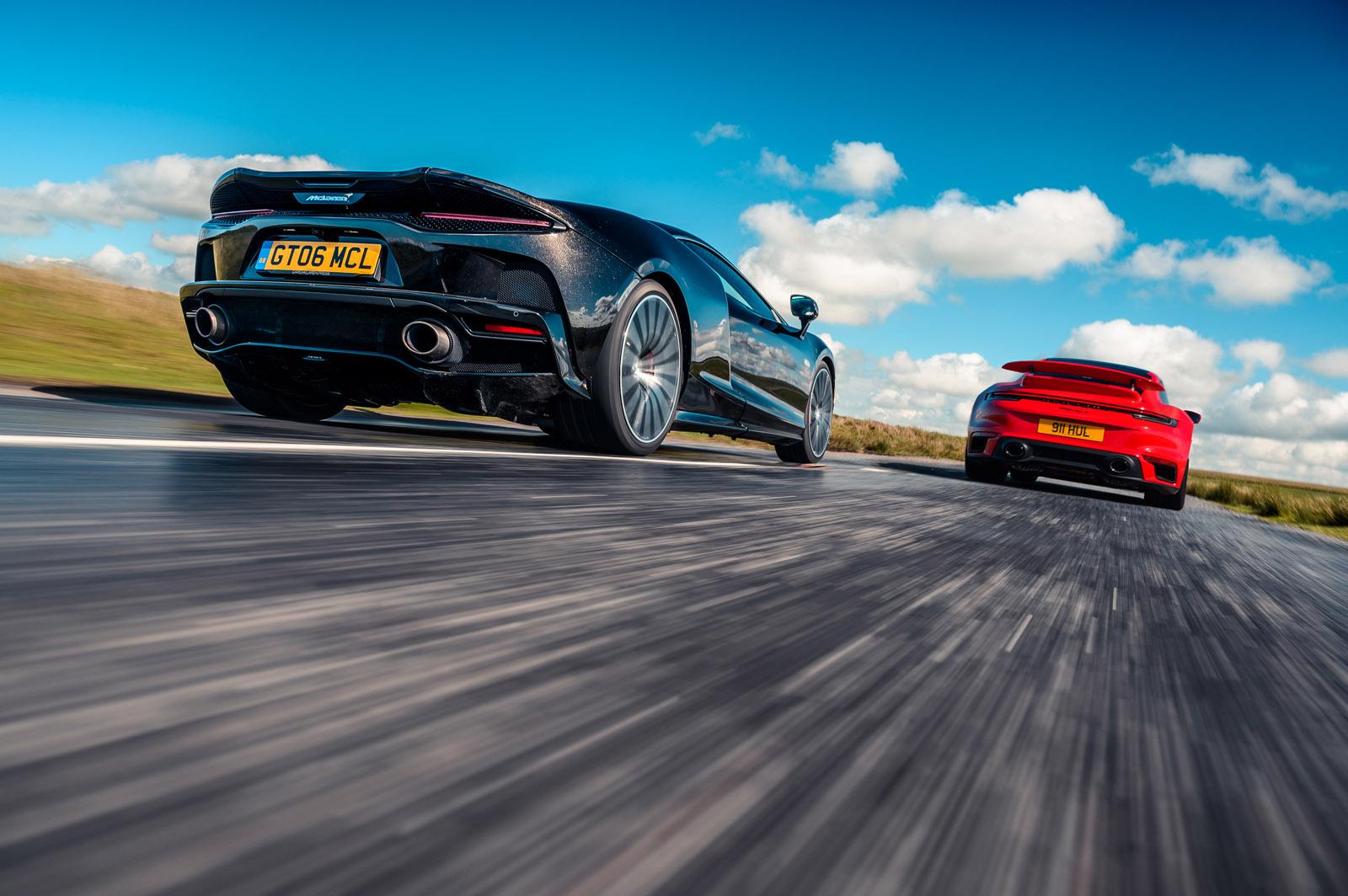 Tour de force: New Porsche 911 Turbo S vs McLaren GT