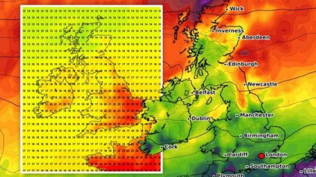 UK hot weather latest: 25C Atlantic heat blast shakes Britain - new chart    Weather    News